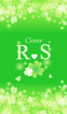 R&Sイニシャル運気UP!幸せのクローバー緑 画像(1)