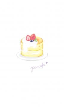 苺パンケーキ:オトナ水彩画* 画像(1)