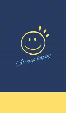 Always happy -NAVY+YELLOW 2- 画像(1)