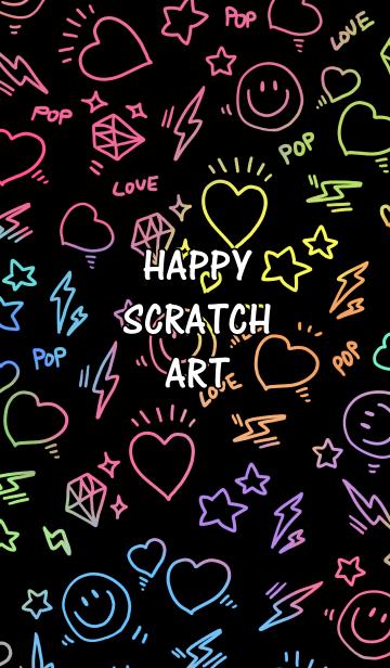[LINE着せかえ] ハッピースクラッチアートの画像