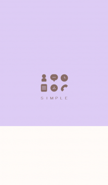 シンプル(beige purple))V.211