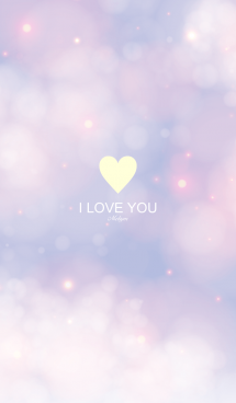 I LOVE YOU [Purple cloud] 2