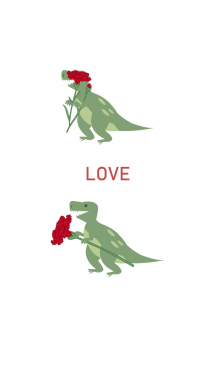 ティラノサウルスは母の日を祝う