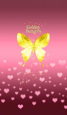 キラキラ♪黄金の蝶#47 ハート 画像(1)