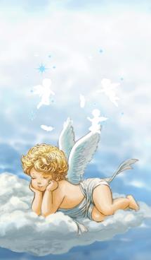 可愛い赤ちゃん天使もしくは、キューピッド