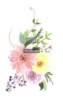 water color flowers_668 画像(1)