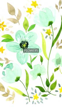 water color flowers_666 画像(1)