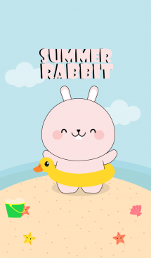 Summer Cute Pink Rabbit (jp)