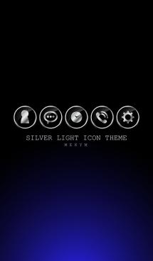 SILVER LIGHT ICON THEME -BLUE- 2 画像(1)