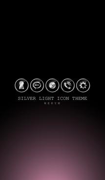 SILVER LIGHT ICON THEME -CREAM PINK- 画像(1)