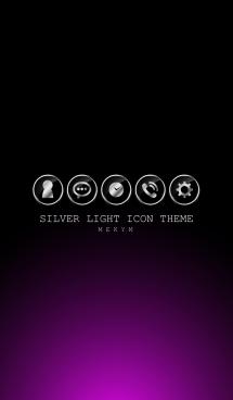 SILVER LIGHT ICON THEME -PURPLE- 4 画像(1)