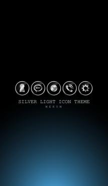 SILVER LIGHT ICON THEME -BLUE- 6 画像(1)