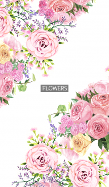 water color flowers_782 画像(1)