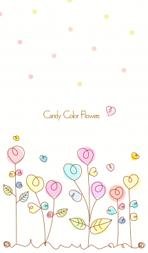 Candy color flowers 6