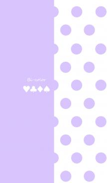 バイカラー -Pastel purple- #pop 画像(1)