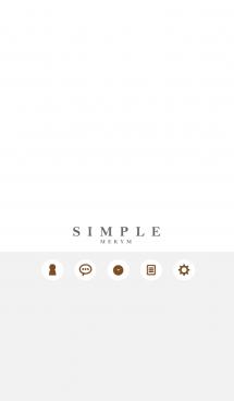 NATURAL SIMPLE ICON WHITE 8 -MEKYM- 画像(1)