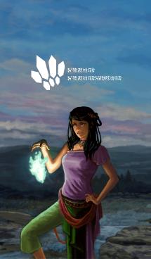 ファンタジーゲーム風魔法使い女性 (j)