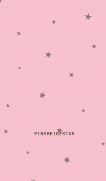 ピンクベージュ&ブラウン&星