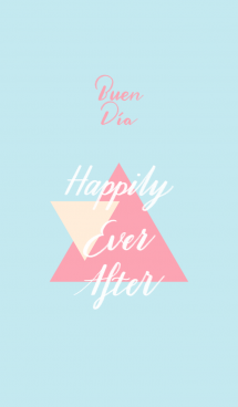 [Lettering] Happily Ever After-Aqua