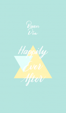 [Lettering] Happily Ever After-Turquoise