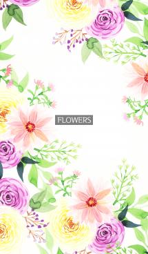 water color flowers_880 画像(1)