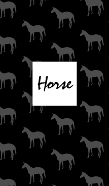 馬/モノクロ 画像(1)