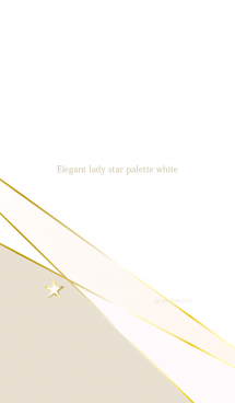 Elegant lady star palette white 画像(1)