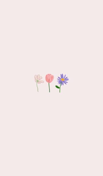[LINE着せかえ] flowers_hand drawingの画像