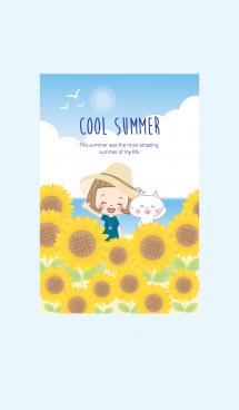 前髪短めな女の子 夏の着せかえ #cool 画像(1)