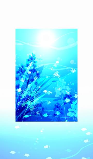 夏の青い海の中での画像(表紙)