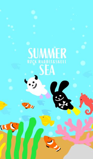 ロックなウサギとドクロちゃん/夏の海の画像(表紙)