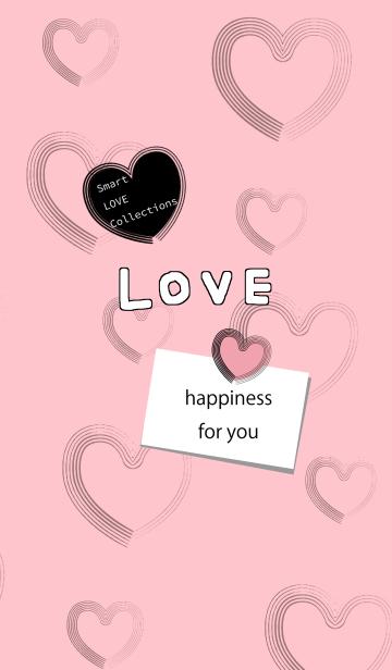 [LINE着せかえ] LOVE♡着せ替え 7 ハピネス[ピンク]の画像