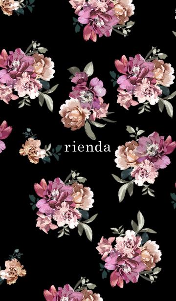 [LINE着せかえ] リエンダ ブリリアントフラワーの画像