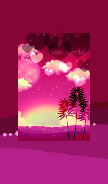 [LINE着せかえ] ハッピーピンクのナイトサマーの画像
