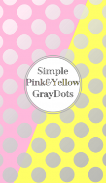 Simple Pink&Yellow GrayDot