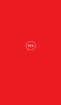 赤色とアイコン×SIMPLE