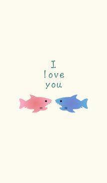 ロマンチックなサメのカップル