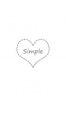 シンプルな点線のラブハート - ホワイト