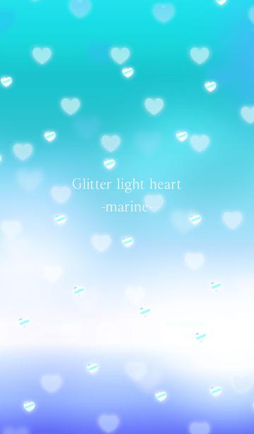 [LINE着せかえ] キラキラ ライト ハート マリンの画像