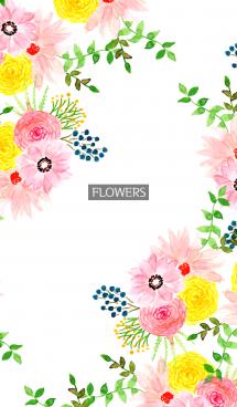 water color flowers_980 画像(1)