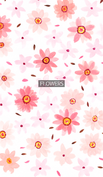 [LINE着せかえ] water color flowers_983の画像