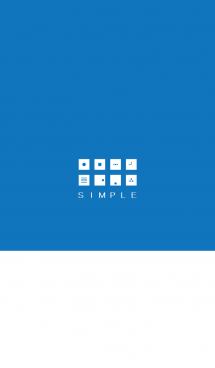 シンプル(white blue)V.288
