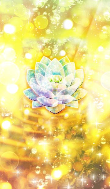 幸運に満たされる蓮の花クリスタルの画像(表紙)