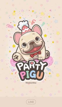 French Bulldog PIGU-Happy Party