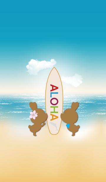 suntan rabbits and surfboard ALOHA 9.の画像(表紙)