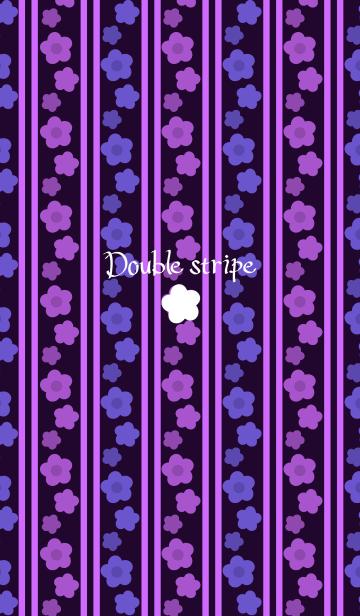 ダブルストライプ -Purple flowers-の画像(表紙)