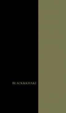 シンプル カーキと黒 ロゴ無し No.4-4 画像(1)
