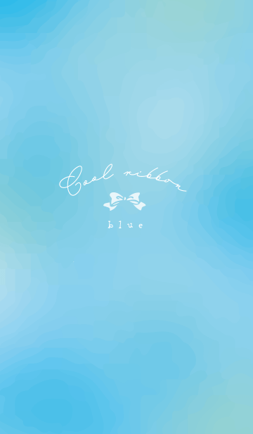 [LINE着せかえ] 水色とリボン/revの画像