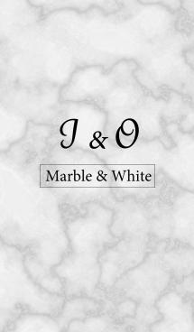 【I&O】イニシャル 大理石モノトーン白 画像(1)