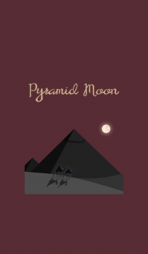 ピラミッドと月 + 茶/ベージュ 画像(1)